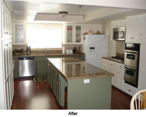 Cosmetic Kitchen Remodel- after photo