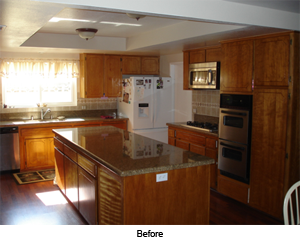 Cosmetic Kitchen Remodel- before photo