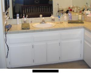 Cosmetic Bathroom Remodel- before photo